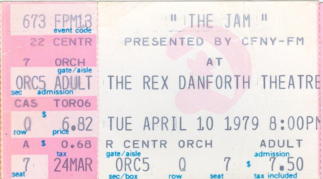 This Is The Modern World: The Jam, Rex Danforth Theatre, Toronto, Ontario, Canada, Tuesday April 10, 1979, mylifeinconcert.com