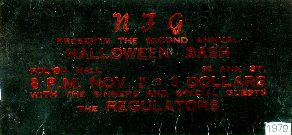 mylifeinconcert.com NFG Regulators Sinners London Ontario 1979