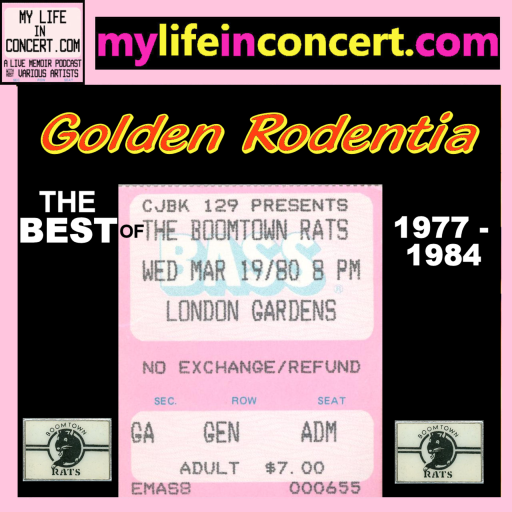 Golden Rodentia: The Best of The Boomtown Rats 1977-1984 MyLifeInConcert.com A VA Playlist
