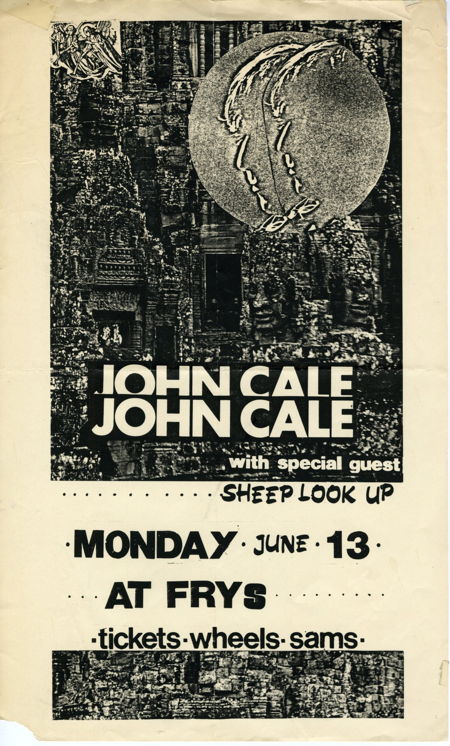 I Keep A Close Watch: John Cale with Sheep Look Up, Fryfogle's, London, Ontario, Canada, Monday June 13, 1983, mylifeinconcert.com