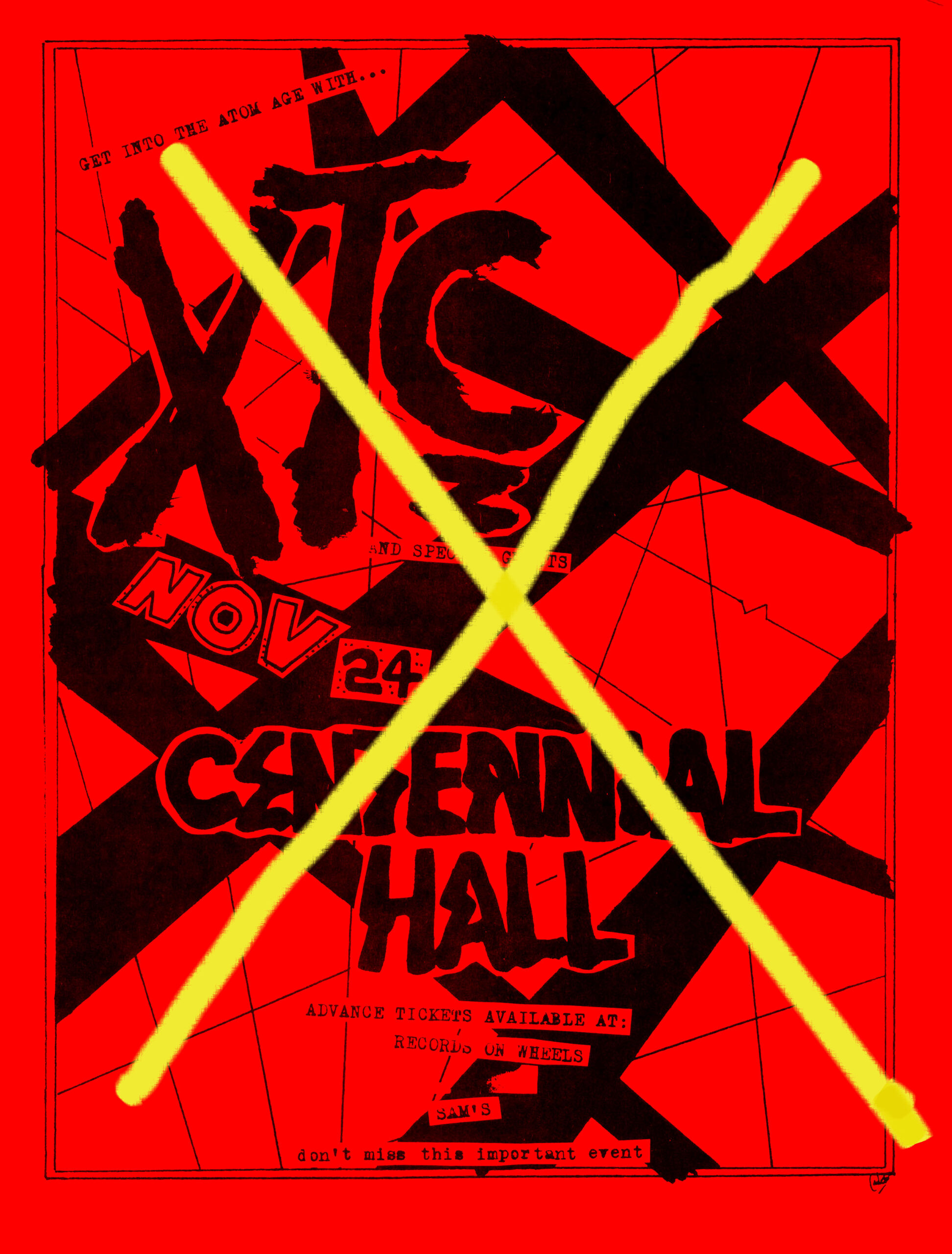 xtc handbill cancelled show london ontario november 24 1980 mylifeinconcert.com RED