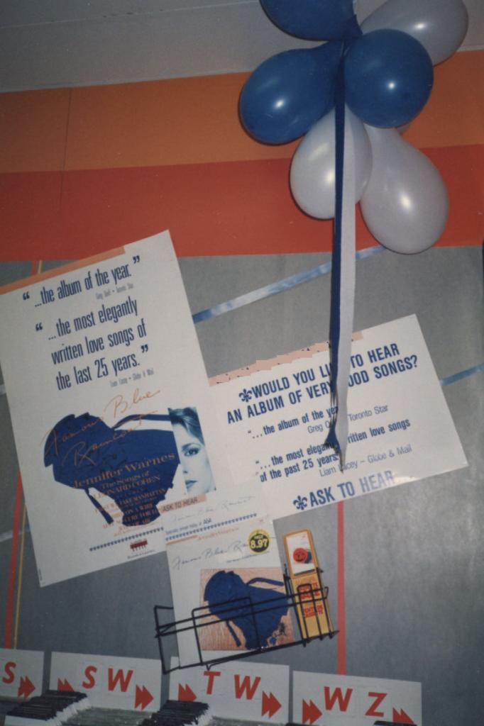 Jennifer Warnes, Famous Blue Raincoat, record display, 1986, I Quit!, mylifeinconcert.com