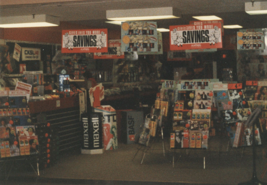 Retail Hell: the store's front from the previous summer of 1986, I Quit!, mylifeinconcert.com