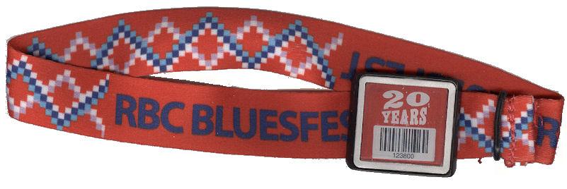 Blondie Ottawa Bluesfest 2014 wristband mylifeinconcert.com