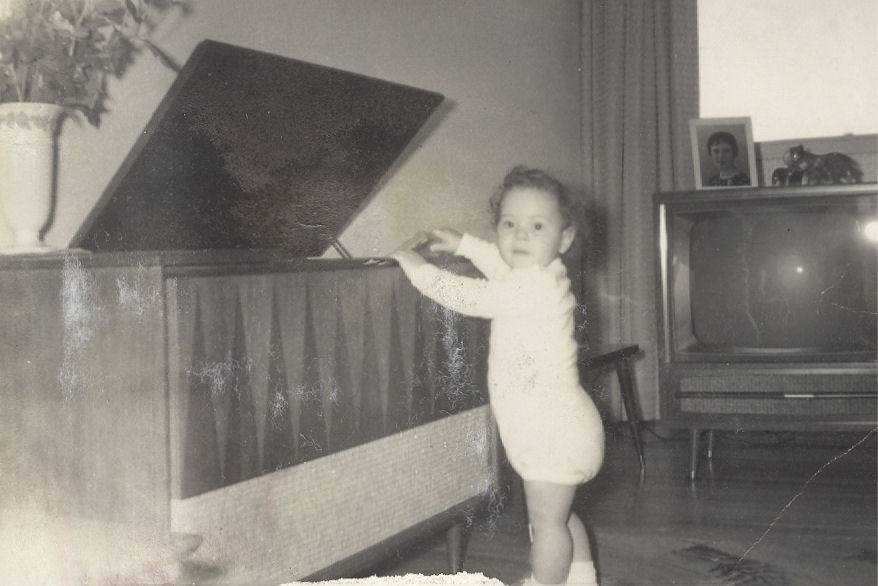Various Artists, age 1, trying to get into my aunt's hi-fi, 1964, mylifeinconcert.com