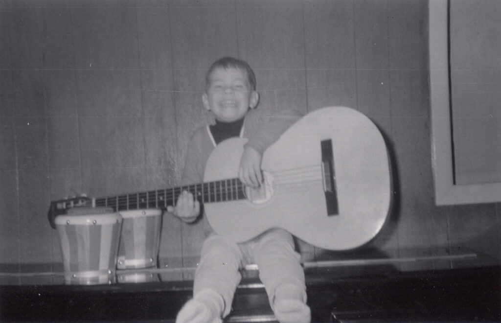 various artists at age 4 with guitar, 1967, mylifeinconcert.com