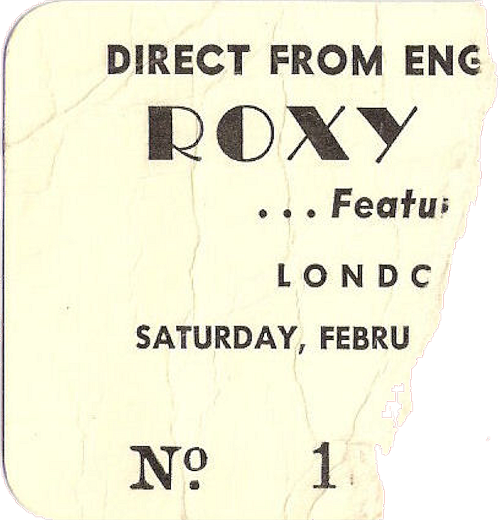Roxy Music with Devotion, London, February 8, 1975, London Arena, London, Ontario, Canada, Ticket, mylifeinconcert.com, Episode 2, Concert Number 1