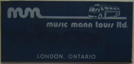 BADGES Music Mann Tours Badge