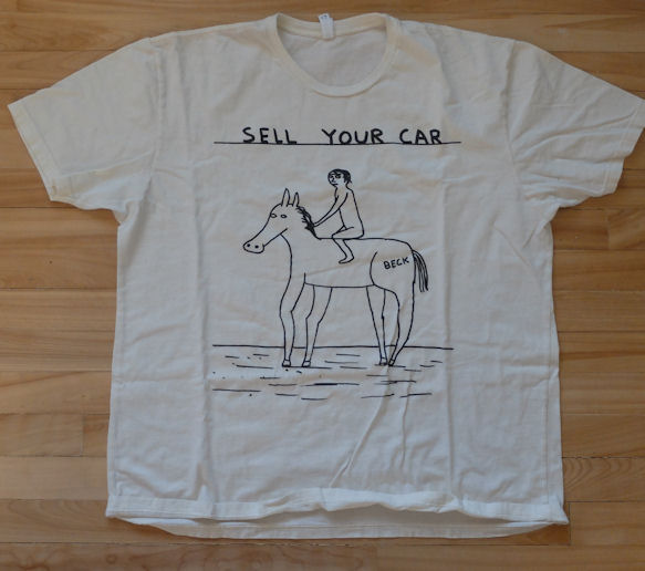 Beck 2015 Concert Tshirt Sell Your Car