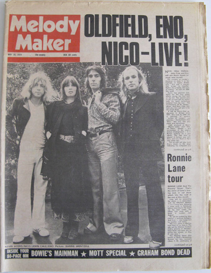 MM Cover May 18 1974 June 1 1974 Concert