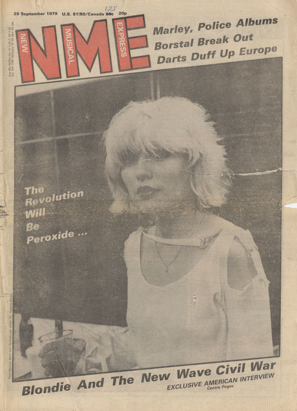 BLOG NME Sept 29 1979 Blondie Cover