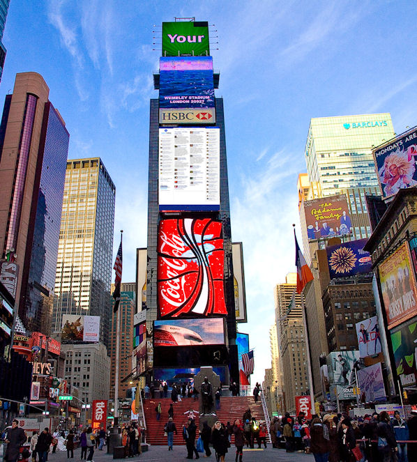 OS Times Square billboard