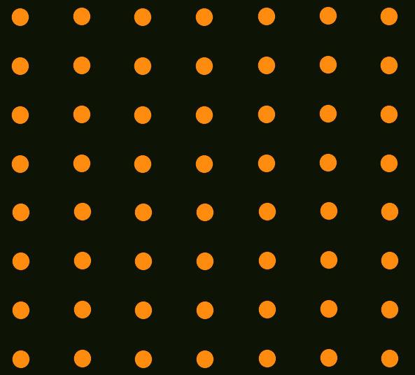 Danceteria black with orange dots