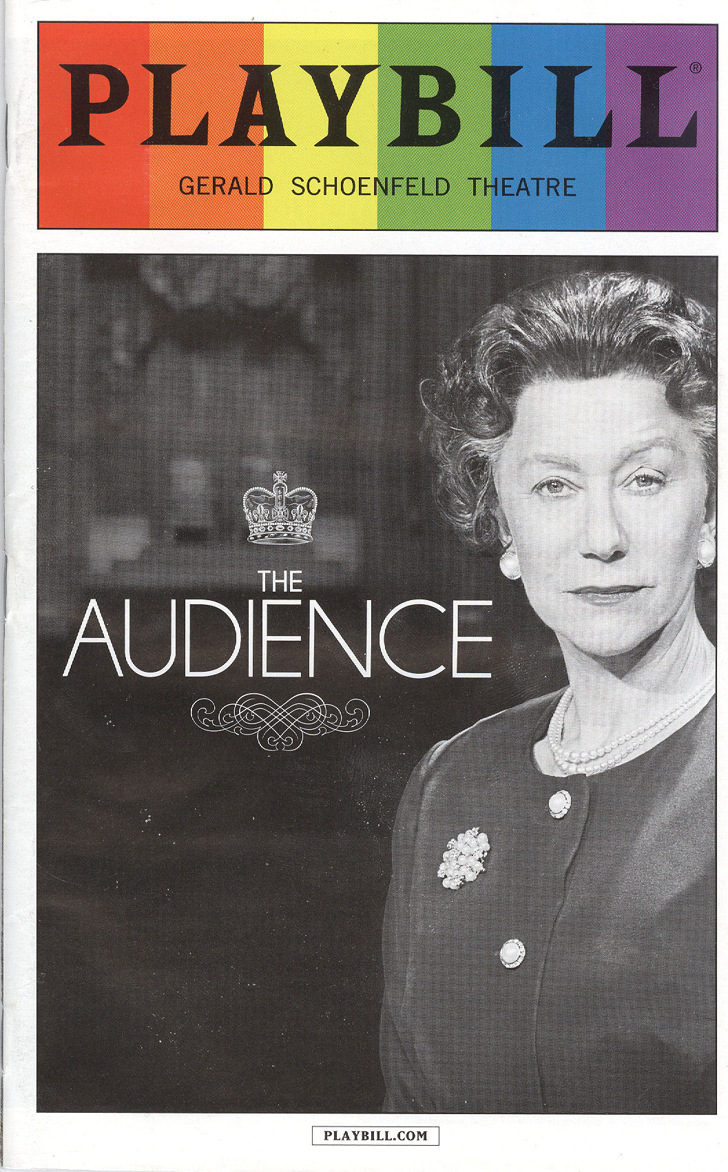 Helen Mirren Audience PLAYBILL