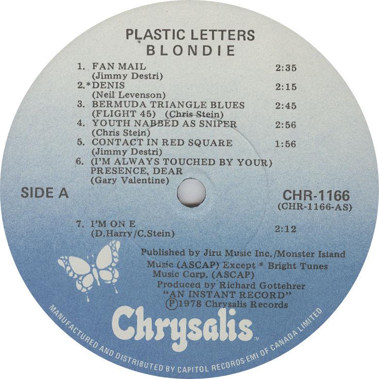 LABEL BLOG Blondie Plastic Letters variousartists