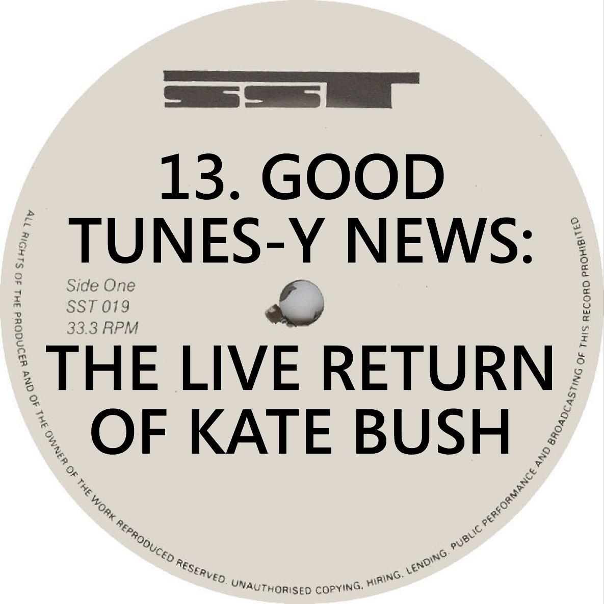 VA Good Tunes News Live Return of Kate Bush SST Records Label