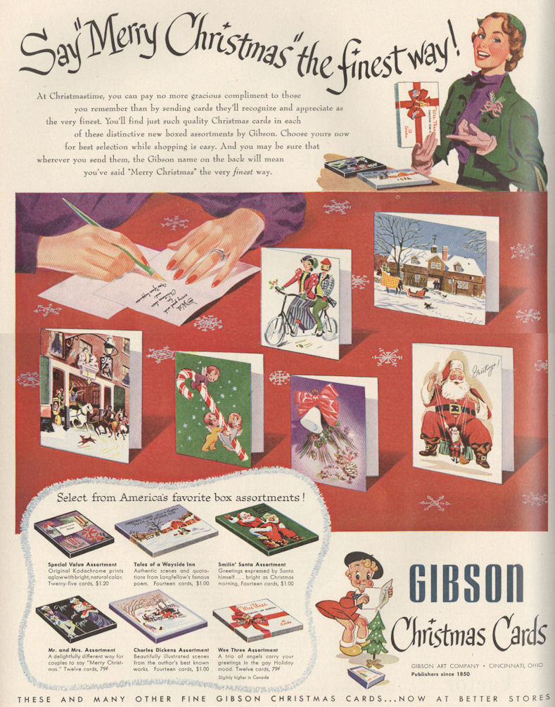 Life Nov 51 Gibson Xmas Cards BLOG