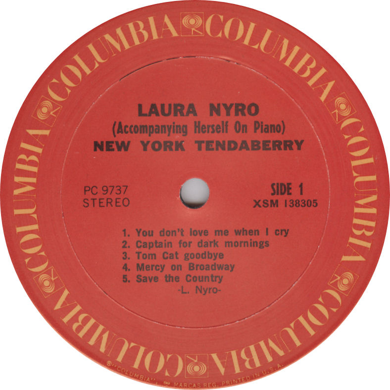 Laura Nyro NewYorkTenda Label Columbia