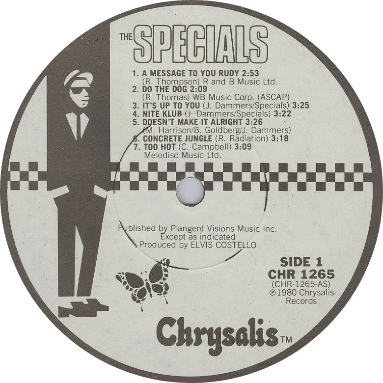Specials 1st LP label Canada