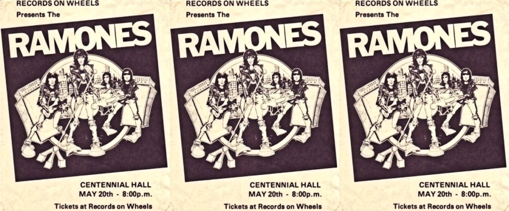 Ramones with the Demics, Centennial Hall, London, Ontario, Canada, May 20, 1980, Handbill, mylifeinconcert.com, Episode 3, Concert Number 7