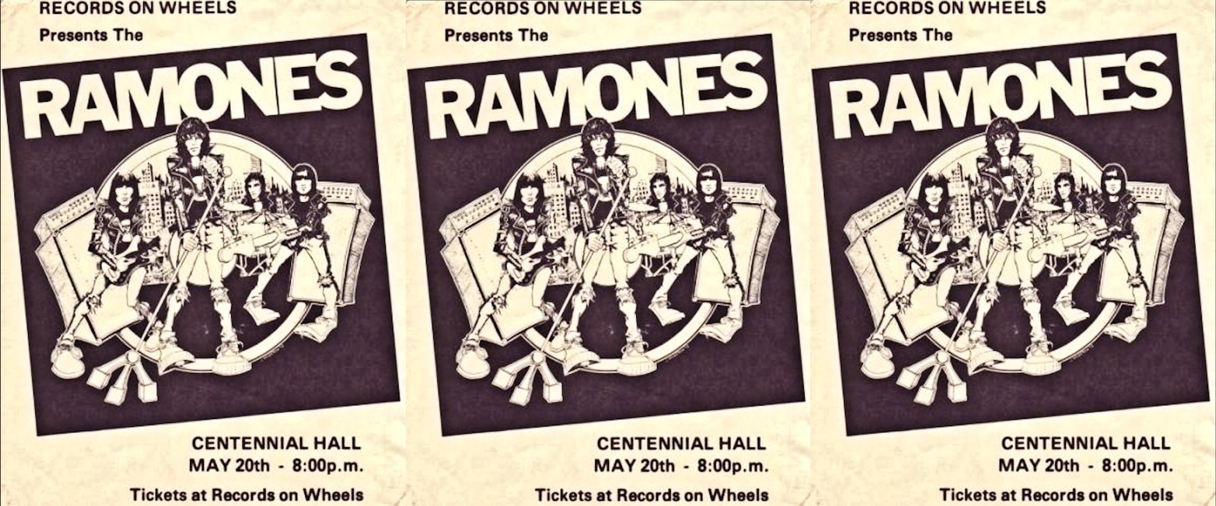 Ramones with the Demics, Centennial Hall, London, Ontario, Canada, May 20, 1980, Handbill, mylifeinconcert.com, Episode 3, Concert Number 7