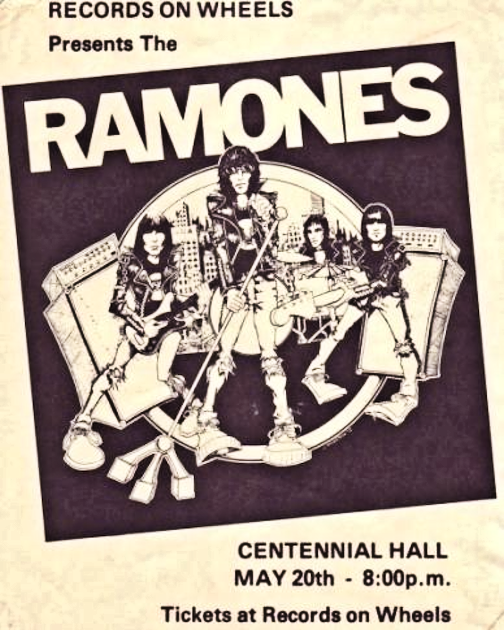 Ramones Demics London Ontario Canada May 20 1980 mylifeinconcert.com