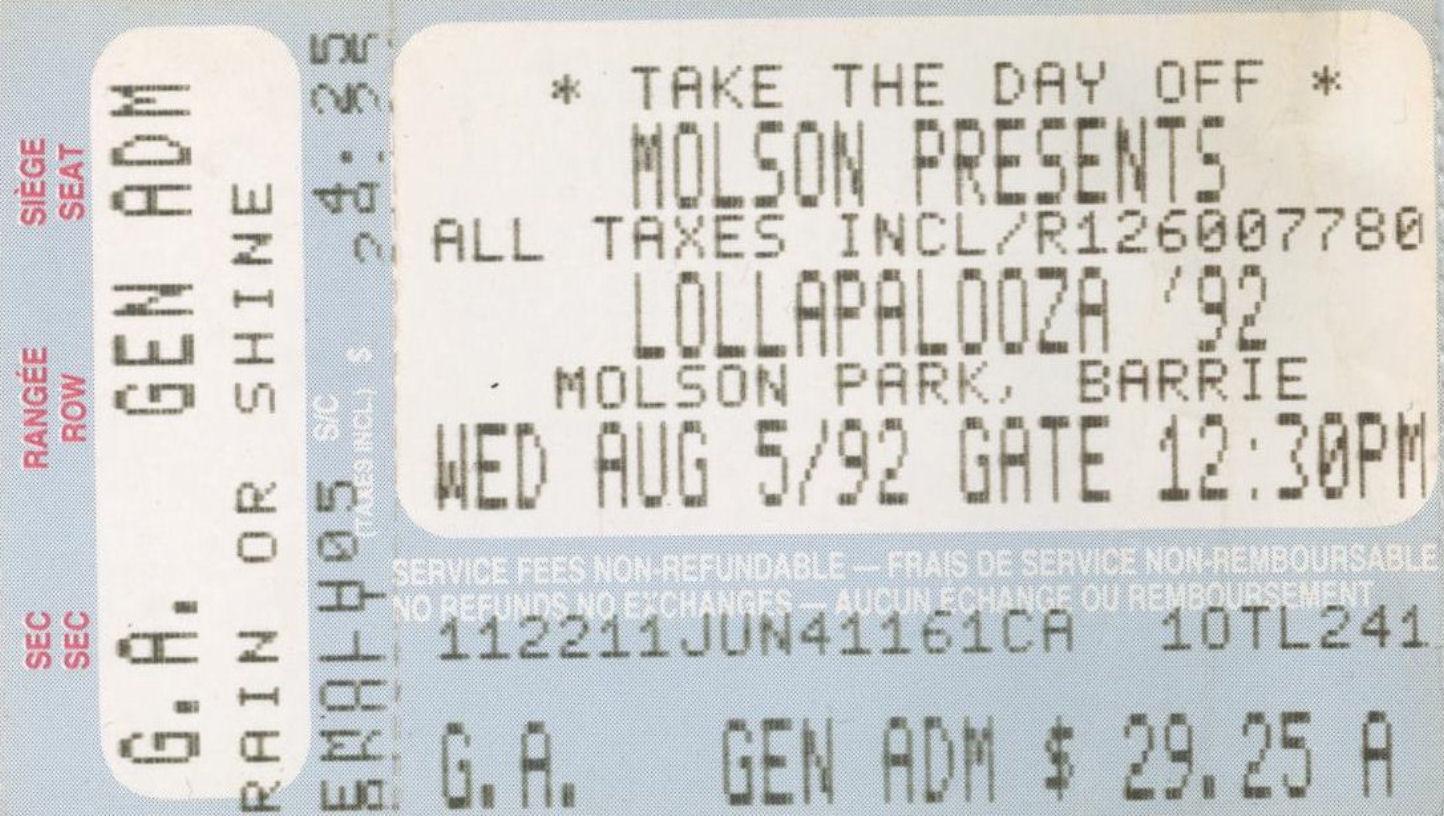 Lollapalooza 92 mylifeinconcert.com