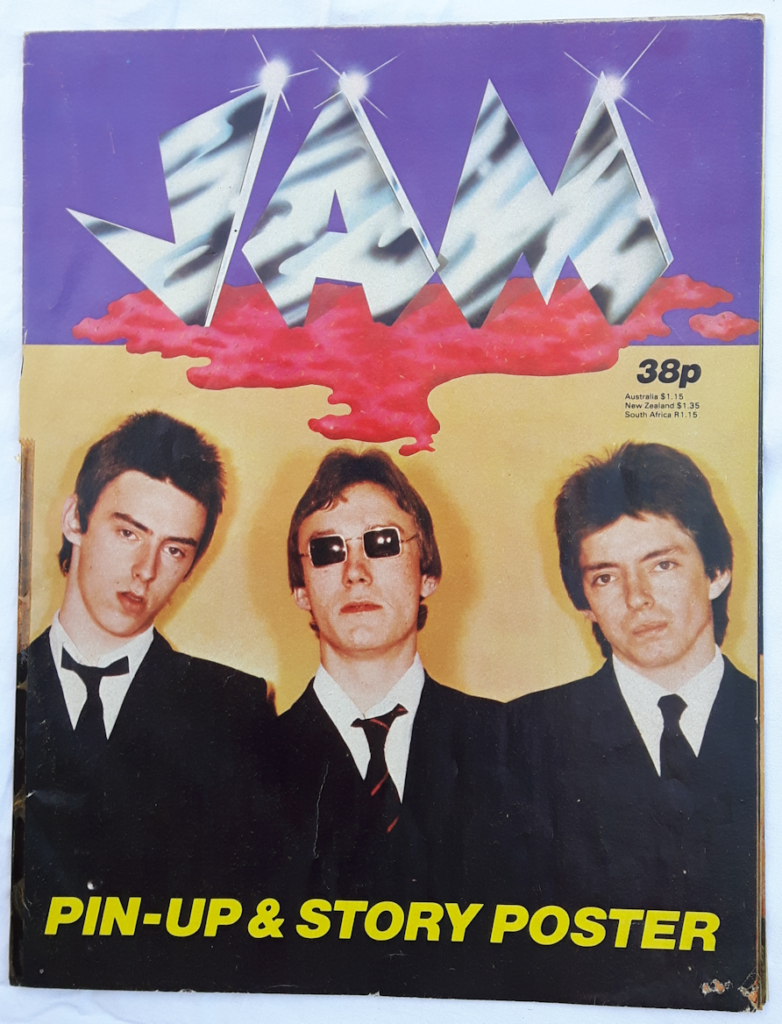 The Jam Pin-Up Story and Poster 1977 Cover mylifeinconcert.com