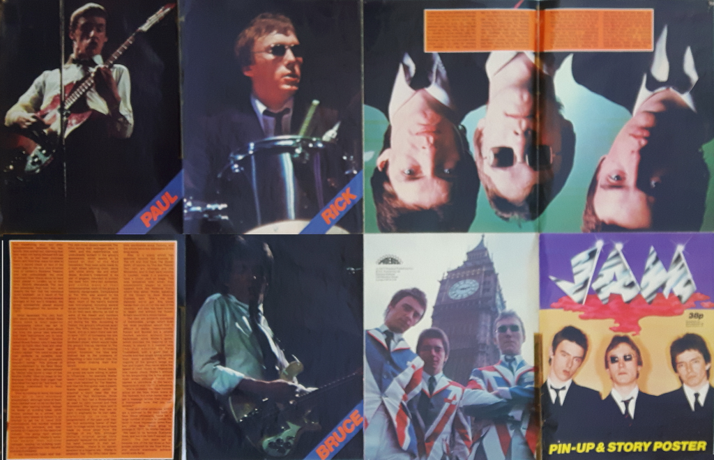 The Jam Pin-Up Story and Poster 1977 Inside Panels mylifeinconcert.com