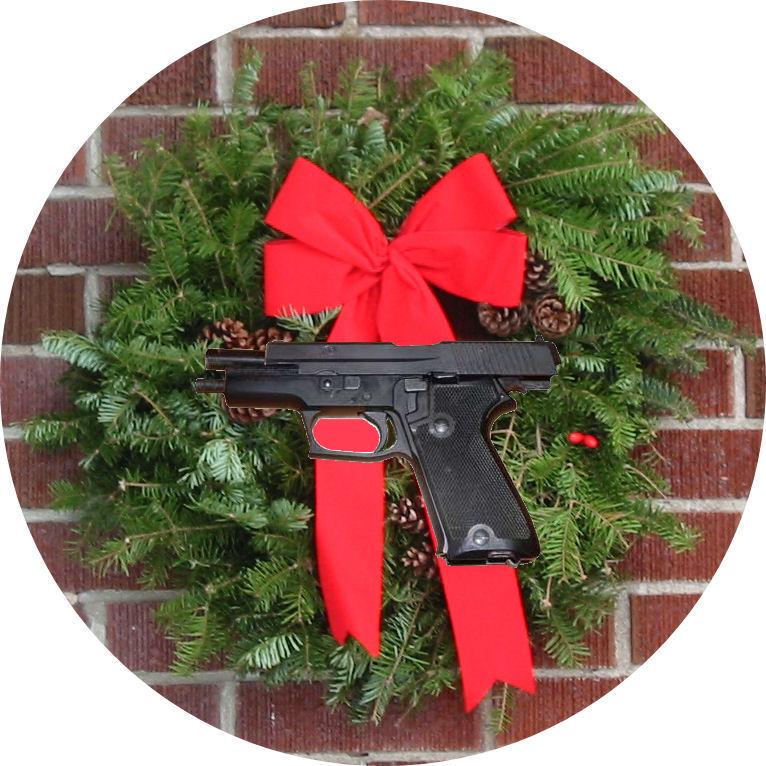 mylifeinconcert.com, Gun Wreath, December 1986, My 3 Xmas Weekends From Hell