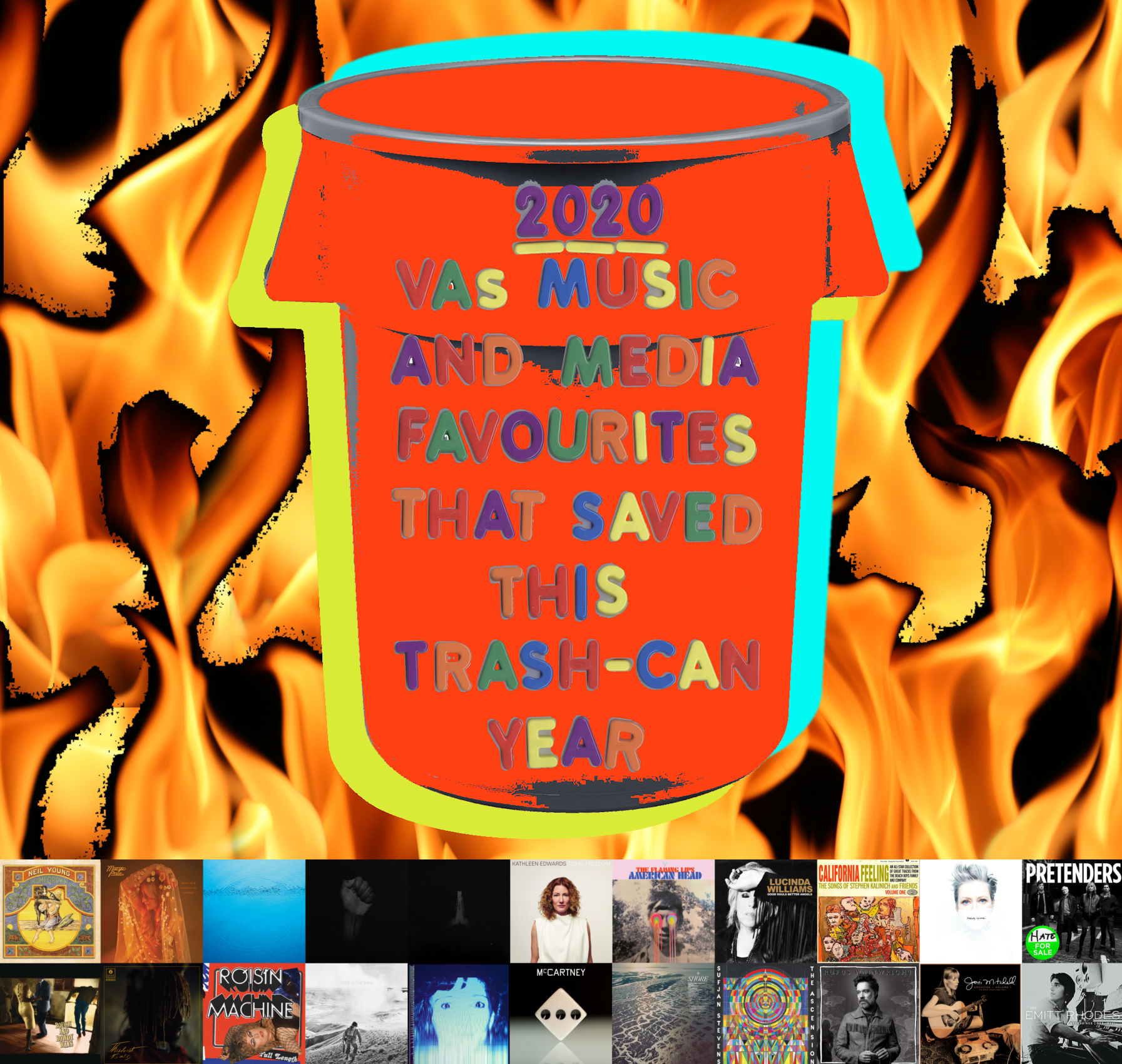 2020: VA's MUSIC AND MEDIA FAVOURITES THAT SAVED THIS TRASH-CAN YEAR