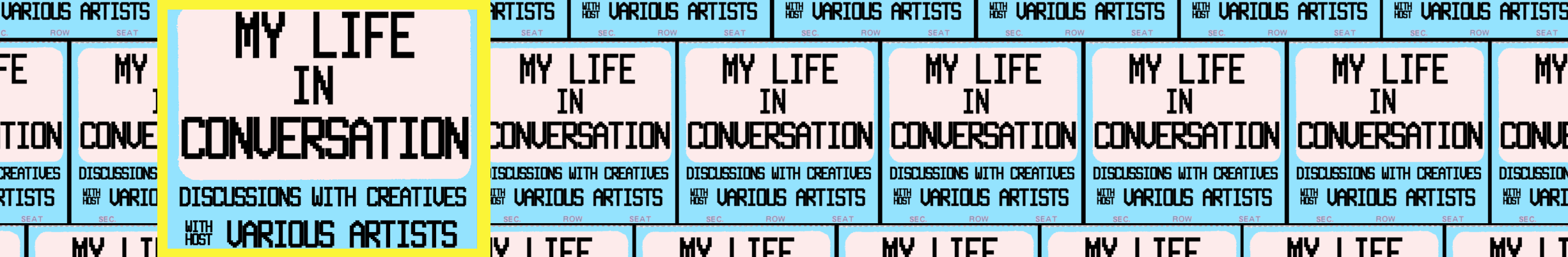 mylifeinconversation.com home page, My Life In Conversation.com, mylifeinconcert.com, various artists
