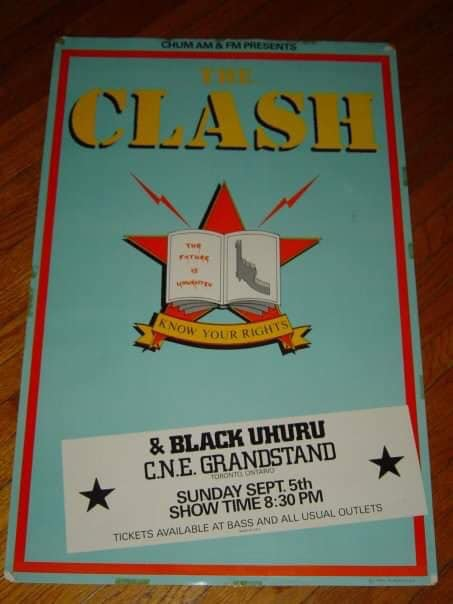 Episode 18 Clash City Rockers: The Clash with Black Uhuru, CNE Grandstand, Toronto, Ontario, Canada, Sunday September 5, 1982, mylifeinconcert.com